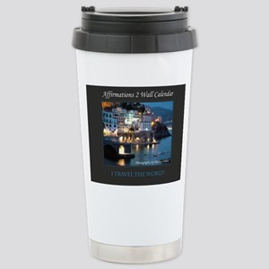 Affirmations 2 Wall Cal Stainless Steel Travel Mug