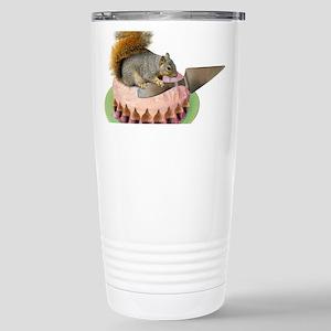 Squirrel Cutting Cake Stainless Steel Travel Mug