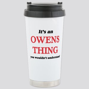 It's an Owens thing Stainless Steel Travel Mug