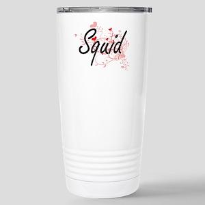 Squid Heart Design Stainless Steel Travel Mug