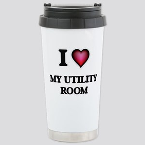 I love My Utility Room Stainless Steel Travel Mug