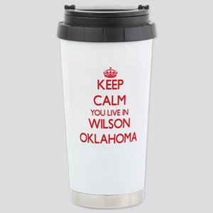 Keep calm you live in W Stainless Steel Travel Mug