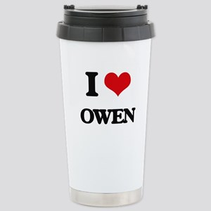 I Love Owen Stainless Steel Travel Mug