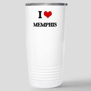 I Love Memphis Stainless Steel Travel Mug