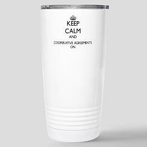 Keep Calm and Cooperati Stainless Steel Travel Mug