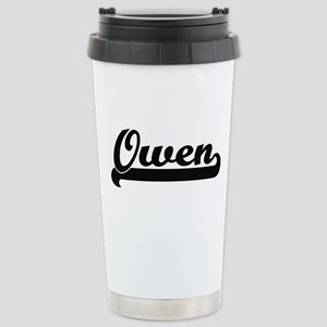 Owen surname classic re Stainless Steel Travel Mug