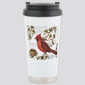 Modern Vintage Winter Woodland Cardinal Mugs