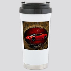 Red Lamborghini Diablo Stainless Steel Travel Mug