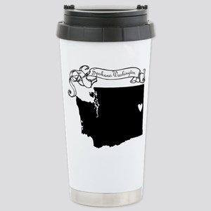Spokane Stainless Steel Travel Mug