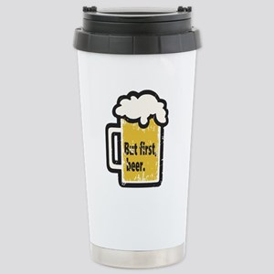 But First Beer Travel Mug
