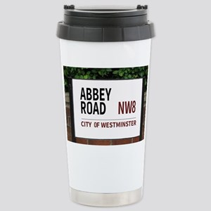 Abbey Road street sign Stainless Steel Travel Mug