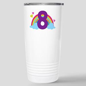 Rainbow 8th Birthday Stainless Steel Travel Mug