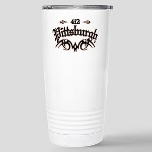 Pittsburgh 412 Stainless Steel Travel Mug