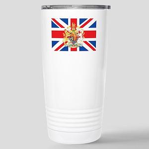 British Flag with Royal Stainless Steel Travel Mug