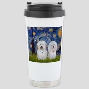 Starry / Coton Pair Stainless Steel Travel Mug