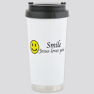Smile Jesus 16 oz Stainless Steel Travel Mug