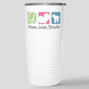 Peace, Love, Doodles Stainless Steel Travel Mug