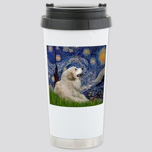 Starry Night Great Pyrenees Stainless Steel Travel