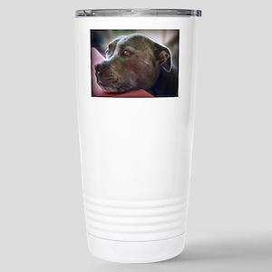 Loving Pitbull Eyes Stainless Steel Travel Mug