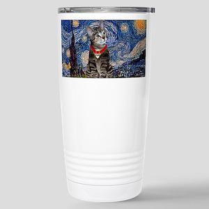 Starry Night / Tiger Cat Stainless Steel Travel Mu