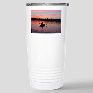 Kayaking at Sunset Stainless Steel Travel Mug