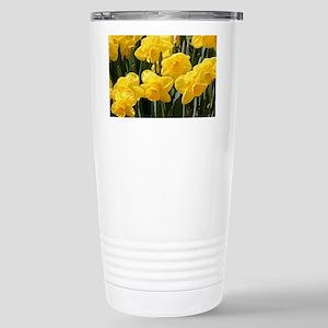 Daffodil flowers in blo Stainless Steel Travel Mug