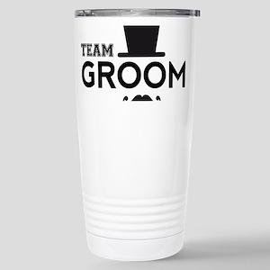 Team groom, hat and mustache Travel Mug