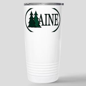 Maine Pine Trees II Stainless Steel Travel Mug