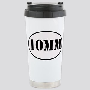 10mm Oval Design Stainless Steel Travel Mug