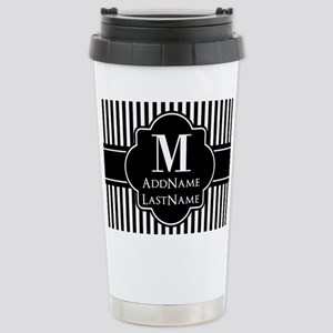 Stripes Pattern with Mo Stainless Steel Travel Mug