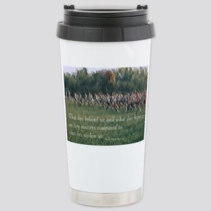Running a Race Stainless Steel Travel Mug