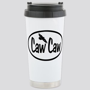 Caw Caw Oval Stainless Steel Travel Mug