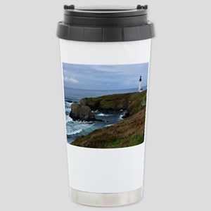 Yaquina Head Lighthouse Stainless Steel Travel Mug