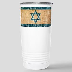 Israel Flag Stainless Steel Travel Mug