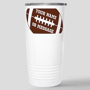 YOUR NAME Football Travel Mug