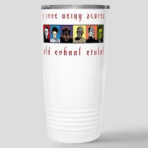 Old School Scared Stainless Steel Travel Mug