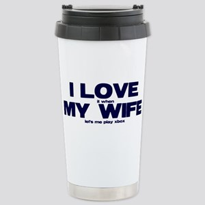 I love my wife Xbox funny Stainless Steel Travel M