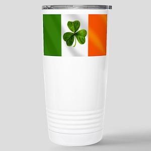 Irish Shamrock Flag Stainless Steel Travel Mug