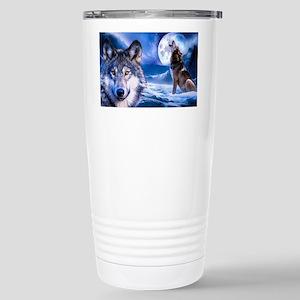 Wolf decor Stainless Steel Travel Mug