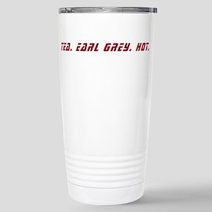 Tea. Earl Grey. Hot. Stainless Steel Travel Mug
