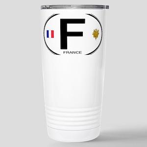 France Euro Oval Stainless Steel Travel Mug