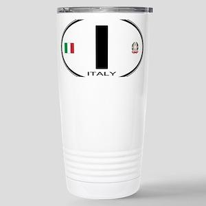 Italy Euro Oval Stainless Steel Travel Mug