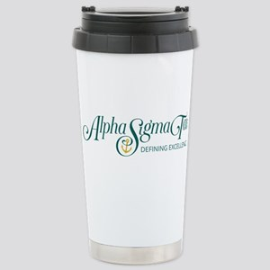 Alpha Sigma Tau Definin Stainless Steel Travel Mug