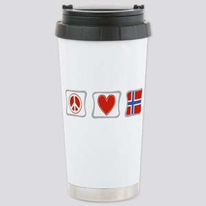 Peace, Love and Norway Stainless Steel Travel Mug
