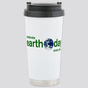 Earth Day Stainless Steel Travel Mug