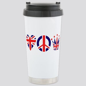 Heart, Peace, Crown - Britiain! Stainless Steel Tr