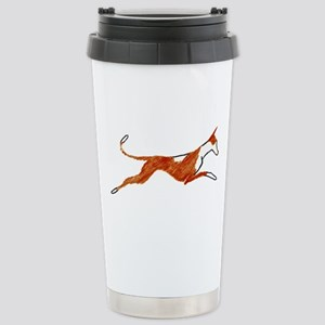 Leaping Ibizan Hound Stainless Steel Travel Mug