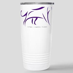 Sigma Lambda Gamma Logo Stainless Steel Travel Mug