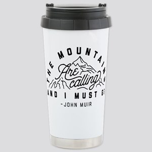 The Mountains Are 16 oz Stainless Steel Travel Mug