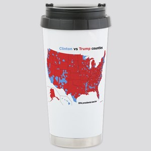 Trump vs Clinton Map Stainless Steel Travel Mug